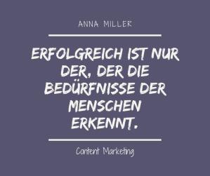 Erfolgreich sein - Anna Miller - Content Marketing
